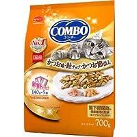 (まとめ)コンボ キャット かつお味・鮭チップ・かつお節添え 700g【×12セット】【ペット用品・猫用フード】