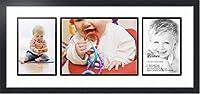 ArtToFrames Alphabet写真画像フレームwith 1–8x 12and 2–6x 8openings.とサテンブラックフレーム。 1 - 12x16 & 2 - 8x12 ブラック Double-Multimat-1589-61/89-FRBW26079