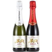 サンテロ 天使のアスティ&天使のロッソ ハーフボトル N.V. 375ml×2本 白&赤 甘口 スパークリングワイン