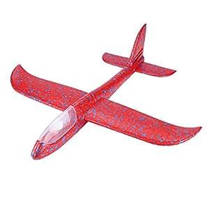 b5917fbfaaf0cc Amazon | 手投げ グライダー 飛行機 モデル 回転飛行 知育おもちゃ 発泡 ...