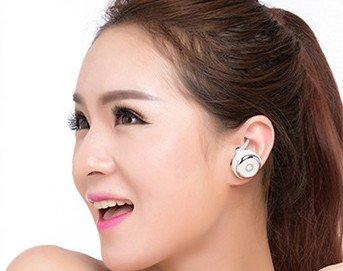 HUV miniワイヤレスヘッドセット マイク内蔵 ハンズフリー Bluetooth4.0 イヤホンヘッドホン CVC6.0ノイズ低減 HIFI高音質 MNQ3 (ホワイト)