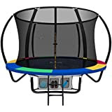 Everfit 8 Feet Trampoline Jump N'dunk Trampolines with Safety Enclosure 120KG Weight Capacity