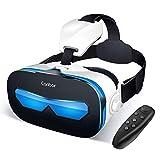 Canbor VR ゴーグル スマホ VRヘッドセット iPhone android VRグラス 3D メガネ 動画 ゲーム Bluetoothコントローラ リモコン 4.0-6.3インチのスマホ対応