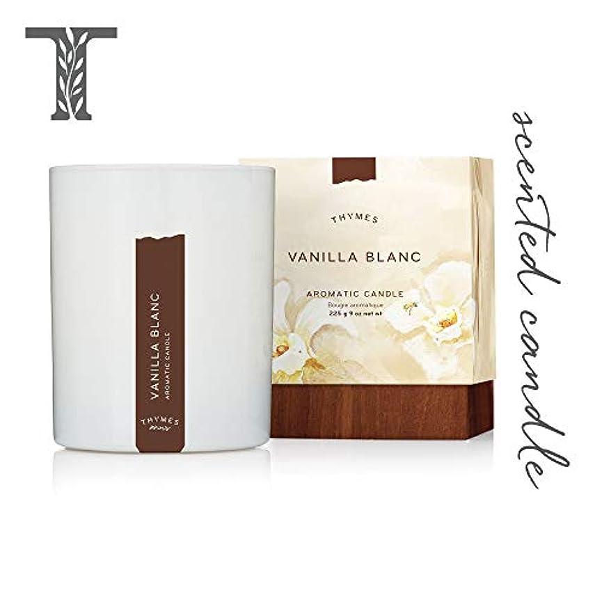 モナリザツーリストプラグThymes - Vanilla Blanc Aromatic Scented Candle - Long Lasting Warm Vanilla Scent with Gift Box - 9 oz