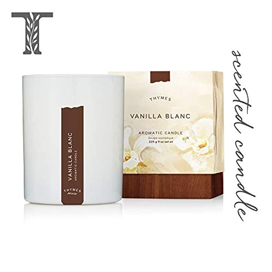 共和党用心深いホテルThymes - Vanilla Blanc Aromatic Scented Candle - Long Lasting Warm Vanilla Scent with Gift Box - 9 oz