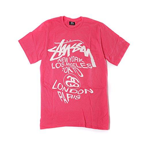 (ステューシー) STUSSY WT Warp Tee 1903690 ステューシー Tシャツ 半袖 メンズ ワールドツアー ワープ Tシャツ Mサイズ ピンク [並行輸入品]
