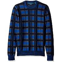 Perry Ellis Men's Multicolor Plaid Crewneck Sweater,