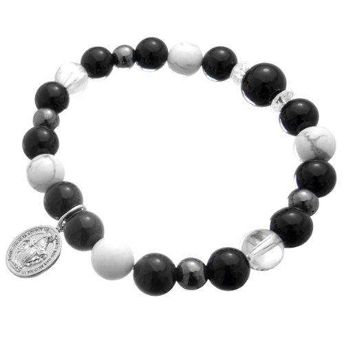 [クローストゥーミー] Close to me 天然石パワーストーンブレスレット マリア数珠ブレス SUCCESS & LUCK メンズ ブラック SBR13-021