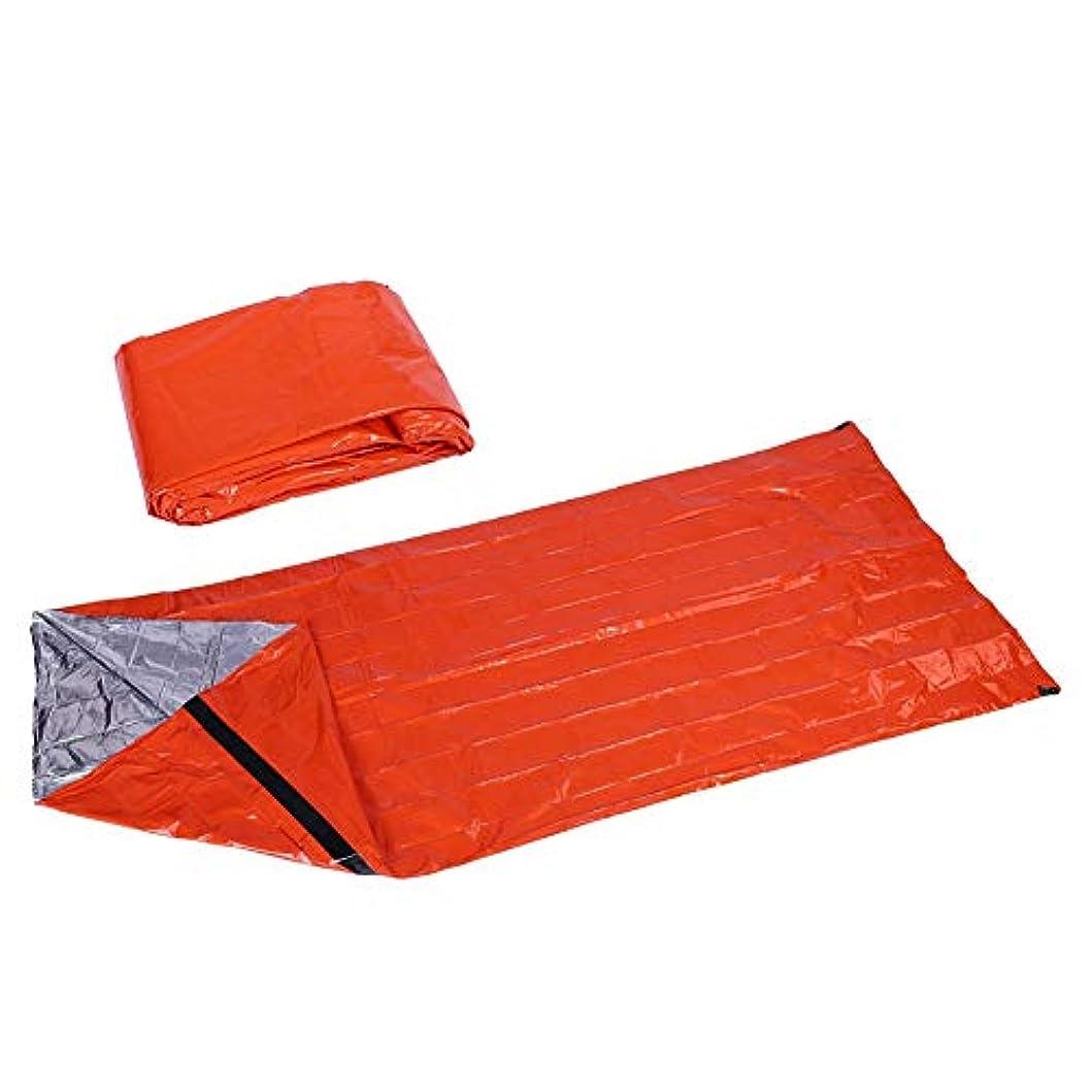 レジ自分自身エイズポータブル 寝袋 超軽量 PE シングル ブランケット 緊急 熱 寝袋 再使用可能 生存屋外 旅行 キャンプ 暖かいバッグを保持 ハイキング などの ための