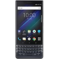 BlackBerry KEY2 LE(Lite)デュアルSIM(64GB、BBE100-4、QWERTZキーパッド)Factory Unlocked 4Gスマートフォン(Slate/Space Blue) - 海外版