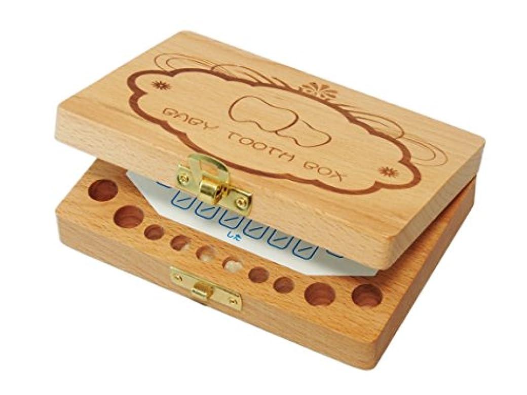 腐敗した労働者セミナー(BMC JAPAN) 乳歯ケース 乳歯入れ 木製 抜けた日シール2色セット(日本語表記) トゥースボックス