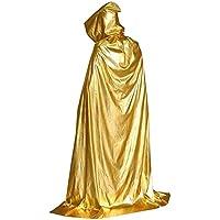 [210cm黄]ハロウィンフード付きのクローククリスマスパーティーコスプレ衣装