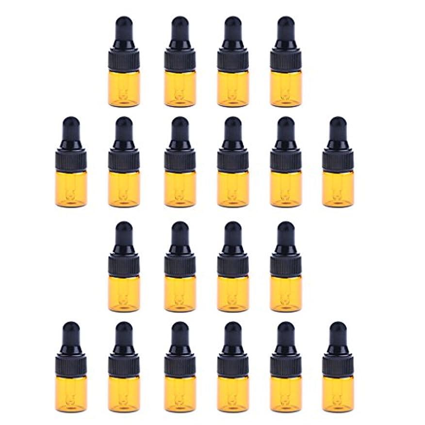 マトンもろい動機付けるSharplace 約20個 ドロッパーボトル エッセンシャルオイル ガラス 化粧ボトル 3サイズ選べる - 1ML