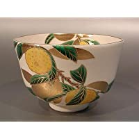 茶道具 抹茶茶碗  色絵 柚子(ゆず)画 N-1、京焼 相模竜泉作