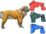 (エムズダイス)M's Dice 大型 中型 犬 用 レインコート 雨具 カッパ 《4カラー3サイズ》 (11.イエロー 5XL)