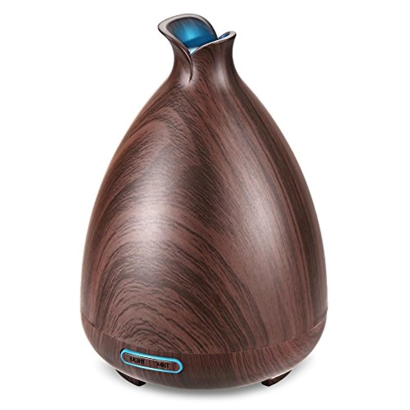 お義務的ペチュランス(Brown) - URPOWER Essential Oil Diffuser 130ml Wood Grain Ultrasonic Aromatherapy Oil Diffuser with Adjustable...