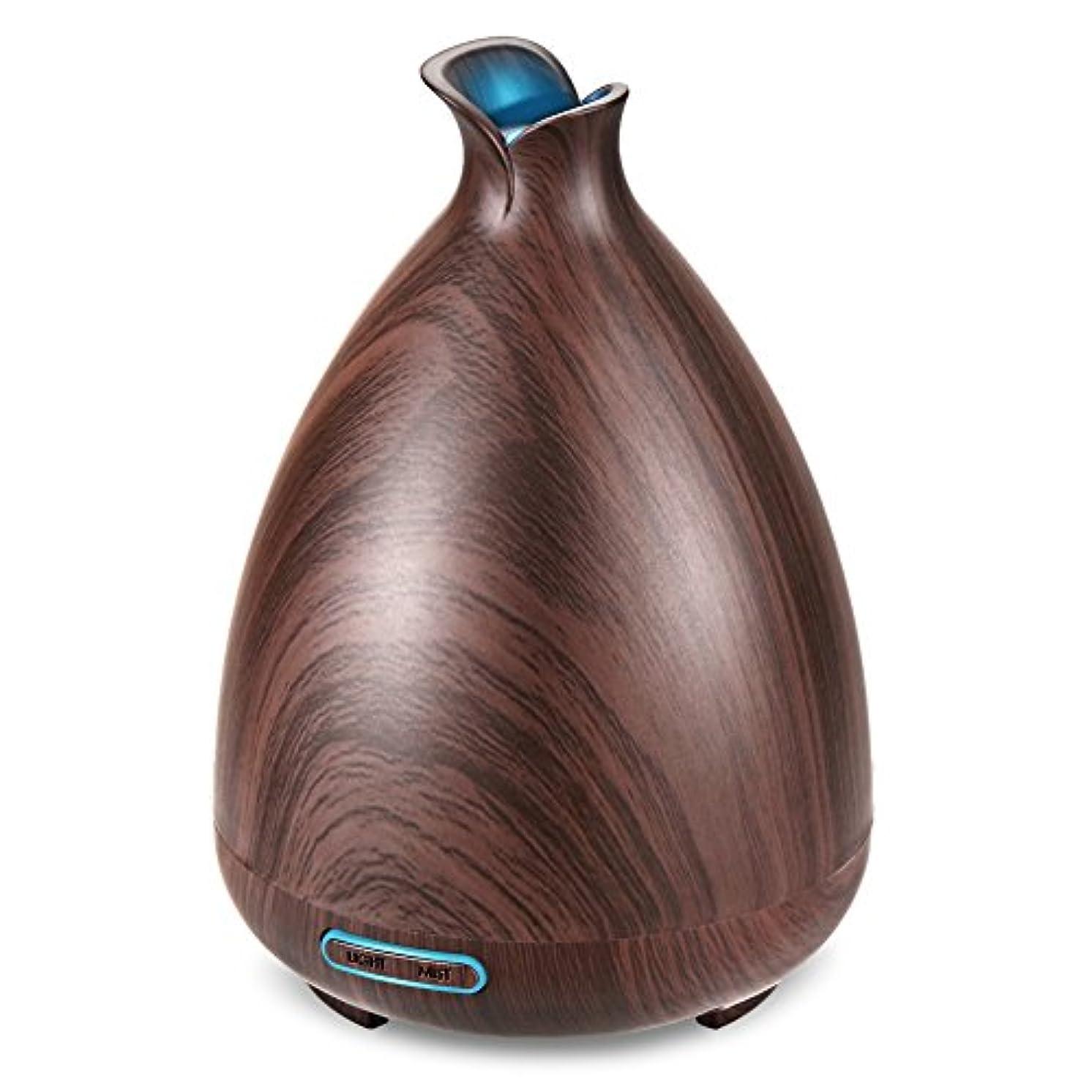 観客バックグラウンド再編成する(Brown) - URPOWER Essential Oil Diffuser 130ml Wood Grain Ultrasonic Aromatherapy Oil Diffuser with Adjustable...