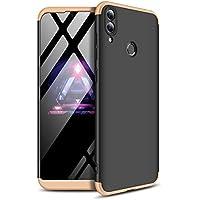 Huawei Honor 8C 電話 シェル 保護 設計 シェル Mrstar 携帯電話ケース 強い シェル Mrstar スリム 轻 シェル カバー の Huawei Honor 8C (Black+Golden)