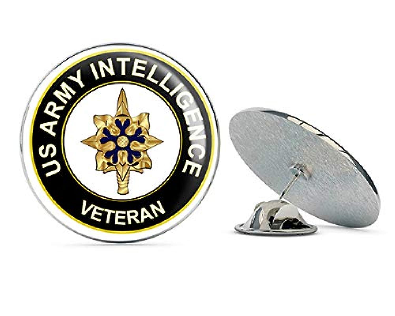 U.S. Army ベテランインテリジェンス メタル 0.75インチ ラペルハットピン タイタック ピンバック