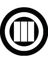 家紋シール 丸に縦算木紋 布タイプ 直径40mm 6枚セット NS4-0636