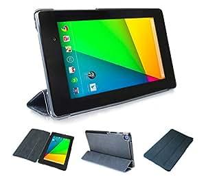 wisers 2013 新型 nexus7 QI充電対応 超薄型軽量 スリムケース (ブラック)