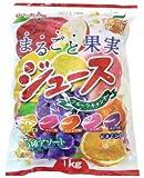 まるごと果実 ジュース フルーツキャンデー 1kg×10袋 扇雀飴本舗