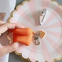 NEILD HOME 該当するビールairpods2保護カバークリエイティブシリコーンアップルヘッドセットワイヤレスヘッドセットセット潮箱シェル (Color : Orange, Size : Airpods)