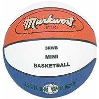Markwort Miniサイズ3ゴムバスケットボール – レッド、ホワイトブルー