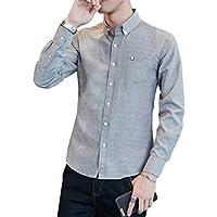 シャツ メンズ 長袖 オックスフォード シャツ メンズ 無地 春 夏 秋 細身 ファッション シャツ カジュアルシャ