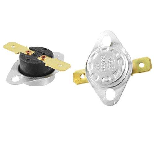 uxcell 温度制御スイッチ 温度スイッチ メタル製 ノーマルクローズ型 100C 212F N.C KSD301  二個入り