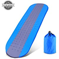 outcamer Sleeping Pad with Attachedの枕バックパッキングキャンプハイキング、プレミアムSelf Inflating Sleeping Pad、軽量インフレータブルFoam Padding Sleeping Mat – 断熱耐久性コンパクト – For Kids