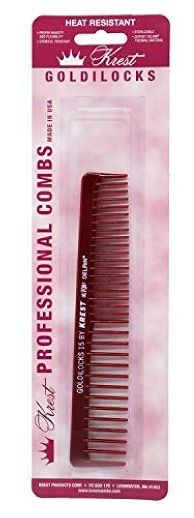 洗練された不実誘惑するKrest Combs Goldilocks Volume/Space Tooth Comb 6 1/2 - G15 by Krest [並行輸入品]