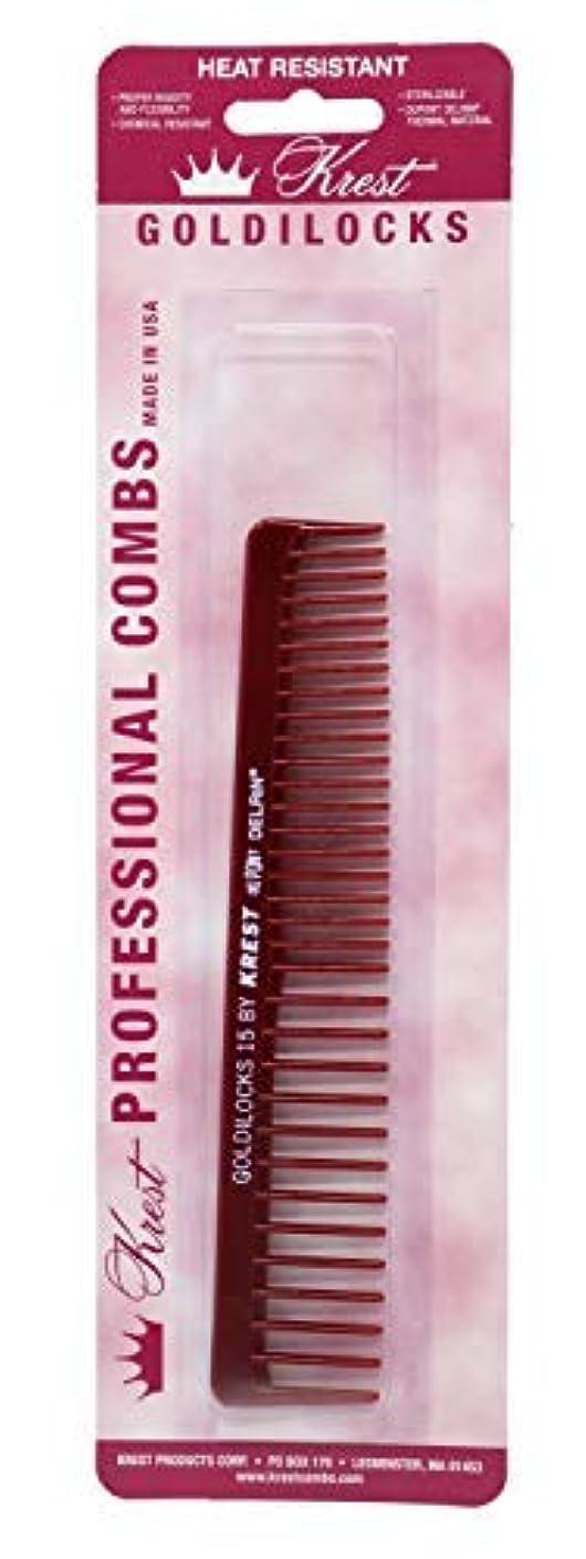 依存する忌まわしい忌まわしいKrest Combs Goldilocks Volume/Space Tooth Comb 6 1/2 - G15 by Krest [並行輸入品]