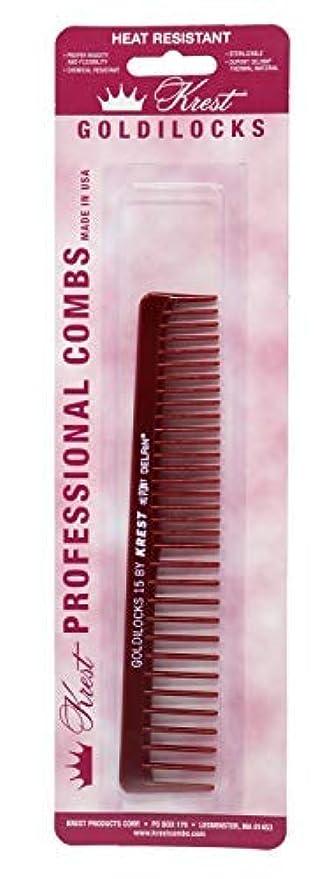 融合プロペラ通りKrest Combs Goldilocks Volume/Space Tooth Comb 6 1/2 - G15 by Krest [並行輸入品]