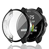 Garmin Vivoactive 3 Music Protector Case,JZK Soft TPU Plated Screen Protector Cover Scratch-Proof All-Around Protective Screen Cover Bumper Shell for Garmin Vivoactive 3 Music Watch Accessories(Black)