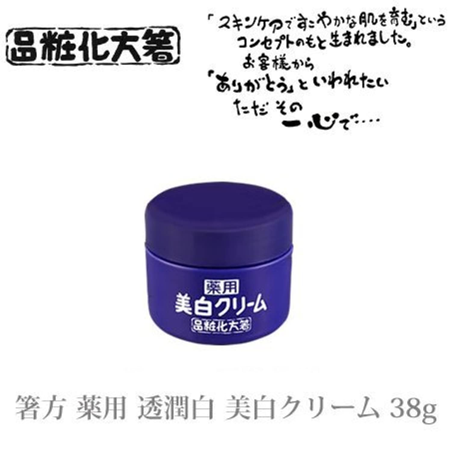 パイプ線形マーティフィールディング箸方化粧品 薬用 透潤白 美白クリーム 38g はしかた化粧品