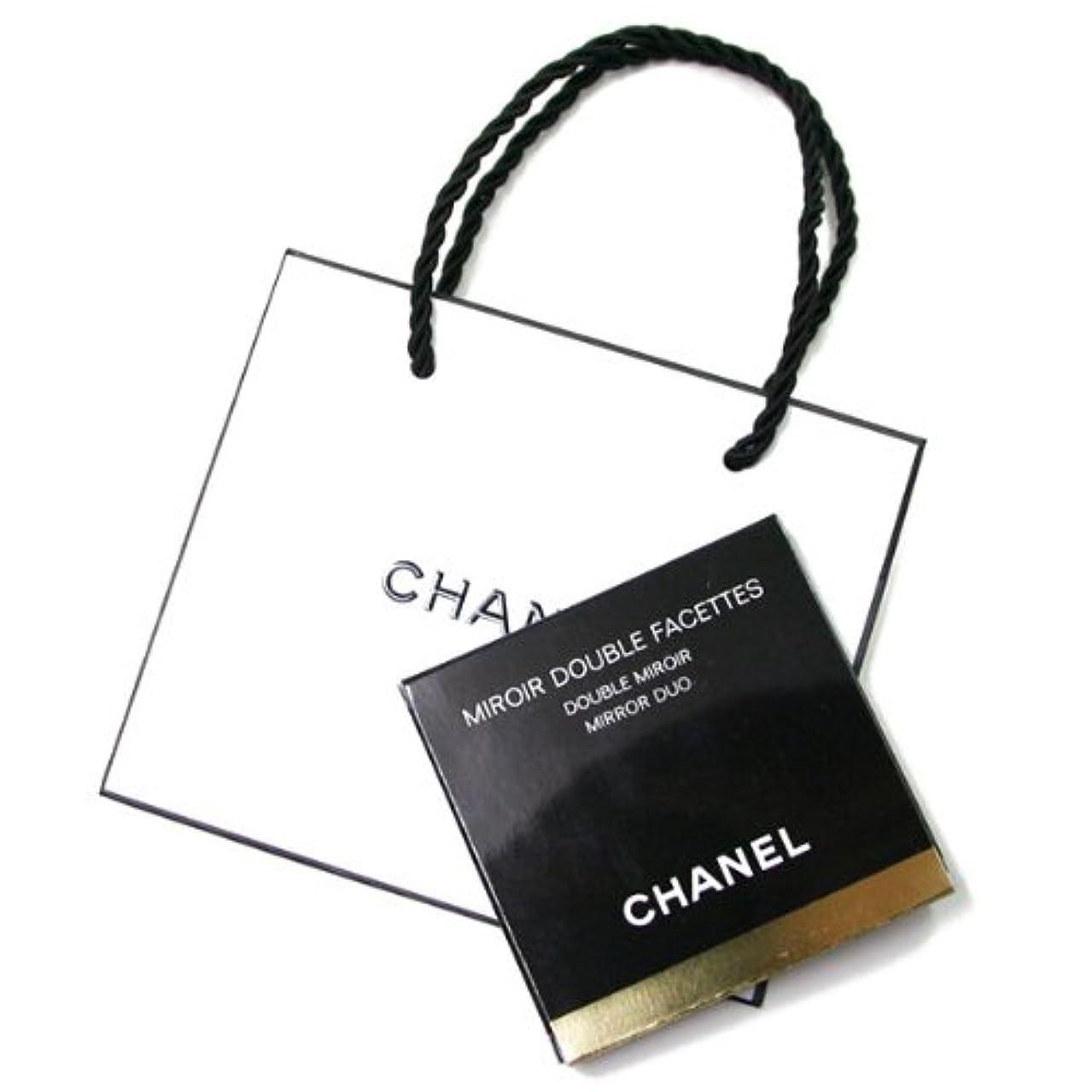 メッセンジャー嫌い血色の良い(シャネル) CHANELコンパクト ダブルミラー 手鏡 BLACK (ブラック)CHANEL ギフト ペーパーバッグ付きミロワールドゥーブルファセットA13750 [並行輸入品]