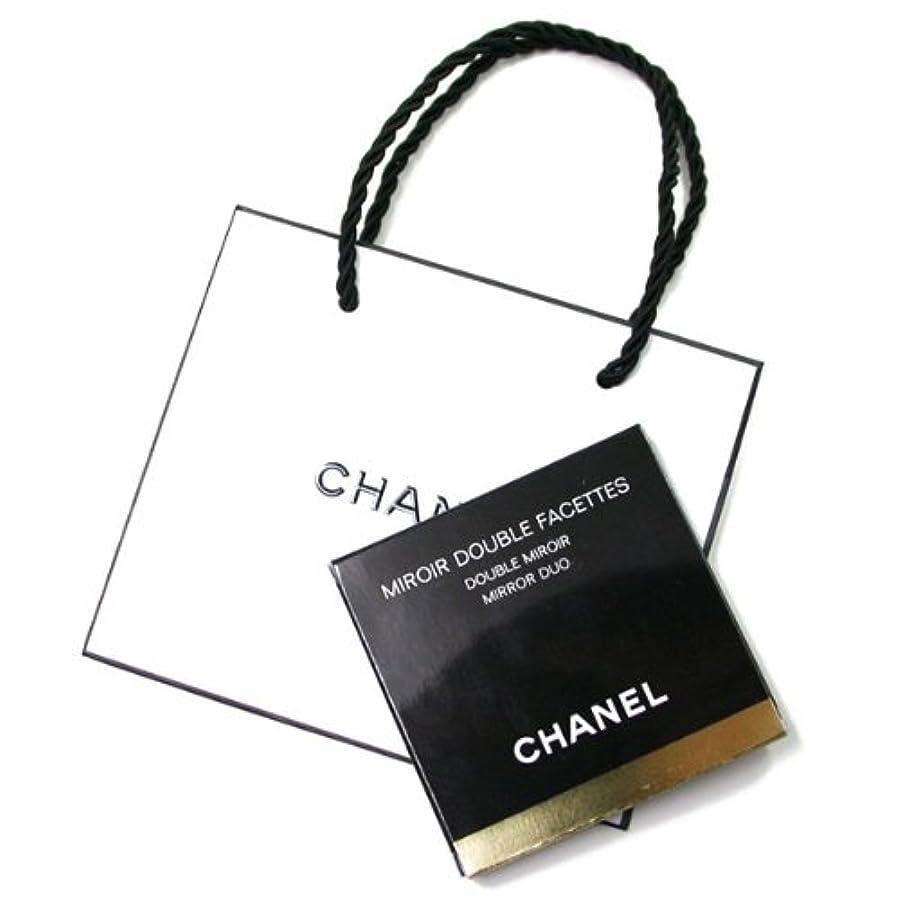 ピンバイソン事前に(シャネル) CHANELコンパクト ダブルミラー 手鏡 BLACK (ブラック)CHANEL ギフト ペーパーバッグ付きミロワールドゥーブルファセットA13750 [並行輸入品]