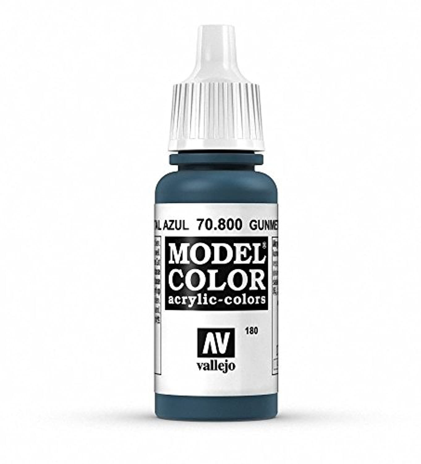 Vallejo P38 Model Colour Paint Metallic Gunmetal Blue Val800 70800