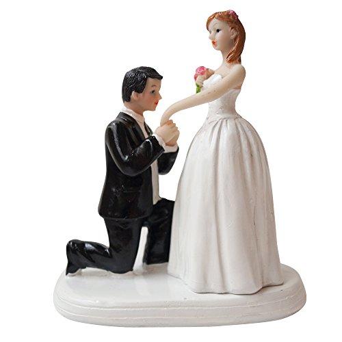 1073916caa20a Lumierechat 結婚式 ウェディング ケーキトッパー ウェディングケーキ ケーキ トッパー 飾り デコレーション新郎 新婦 花嫁 a-6926  (A-プロポーズ) ○Lumierechat ...