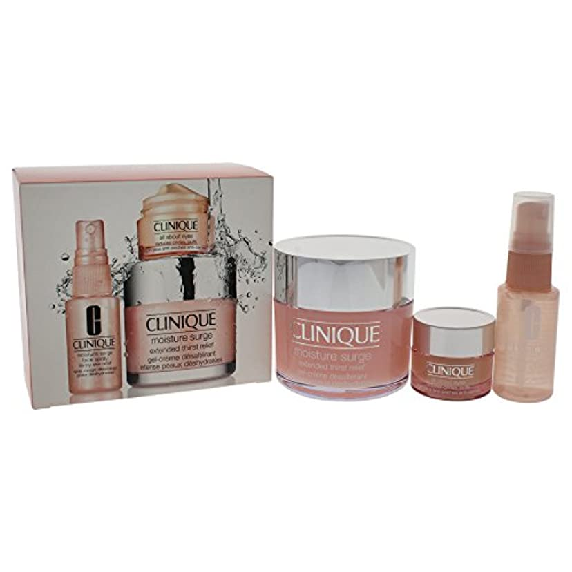 公平従事したセグメントクリニーク Moisture Surge Set: Moisture Surge 125ml + All About Eyes 15ml + Moisture Surge Face Spray Thirsty Skin...