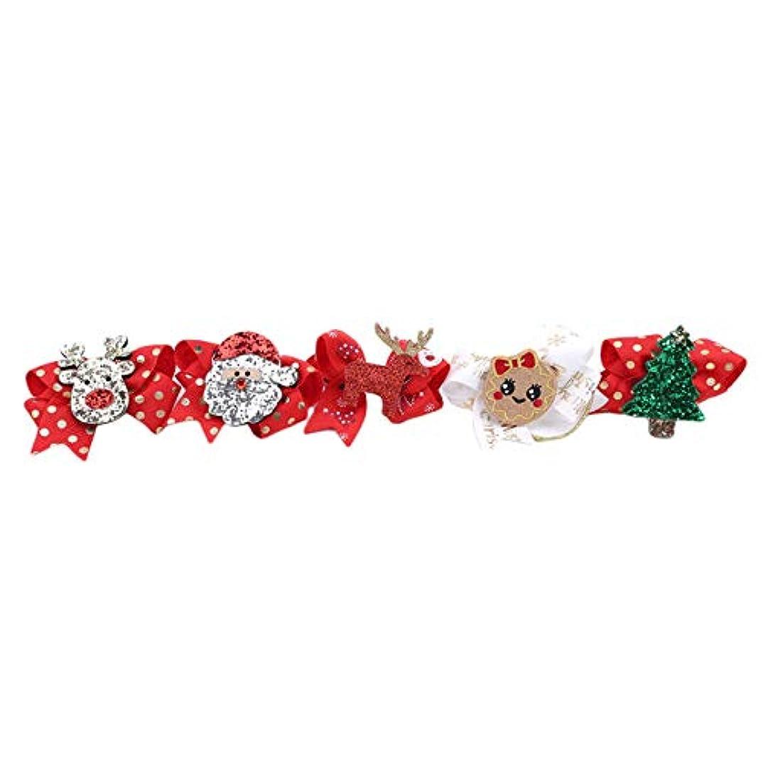 リングバックのみ必要としているZALING クリスマス女の子ヘアロープツリーサンタスノーマンキッズ弾性ヘアバンドラブリーヘアアクセサリー