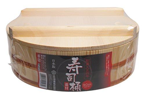 立花容器 寿司桶 30cm フタ付き 飯台 約4号【日本製】