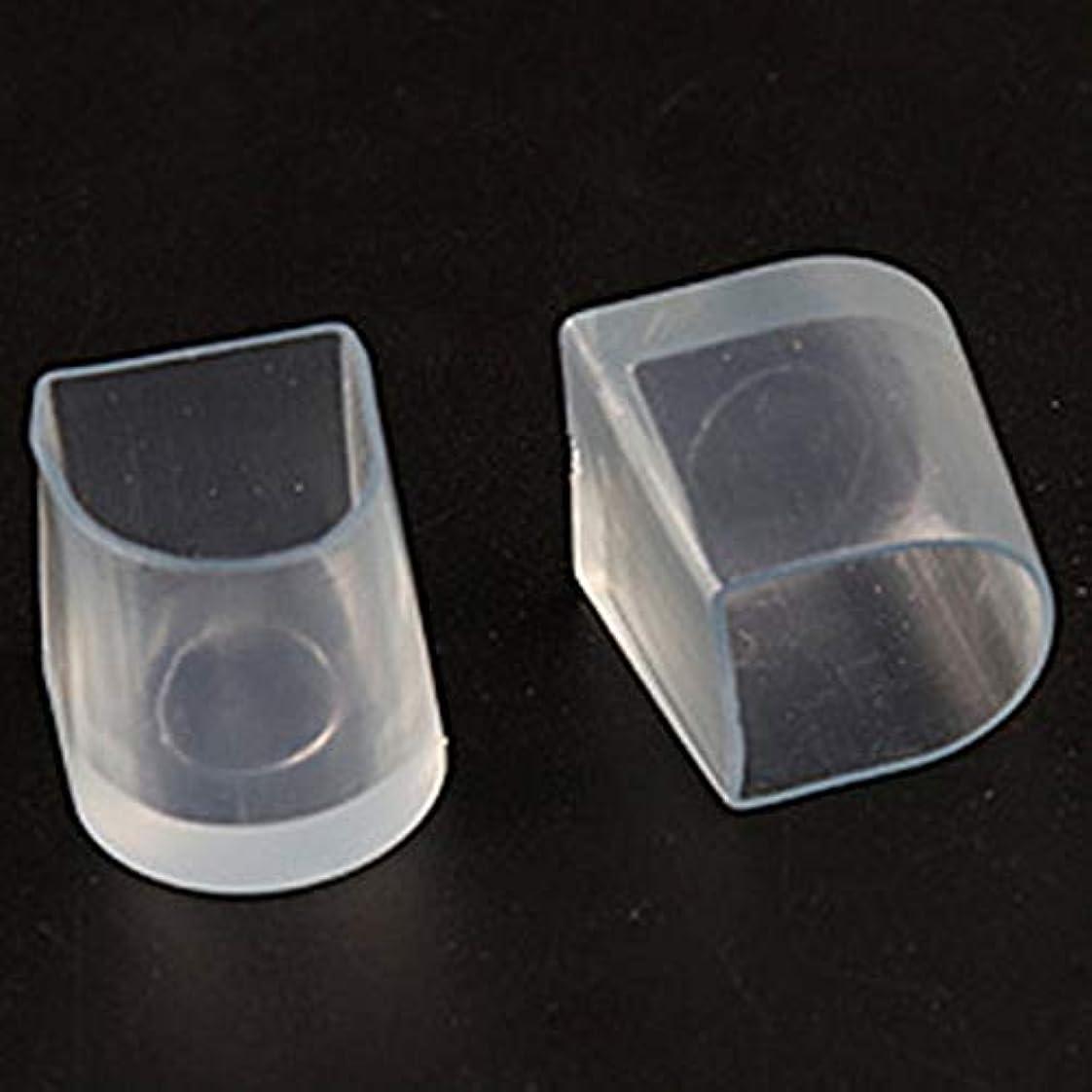 肉腫プレミアアクロバット1ペアハイヒール保護カバーラテンスティレットダンスカバーヒールストッパー滑り止め耐摩耗性(Color:transparent)(Size:M)