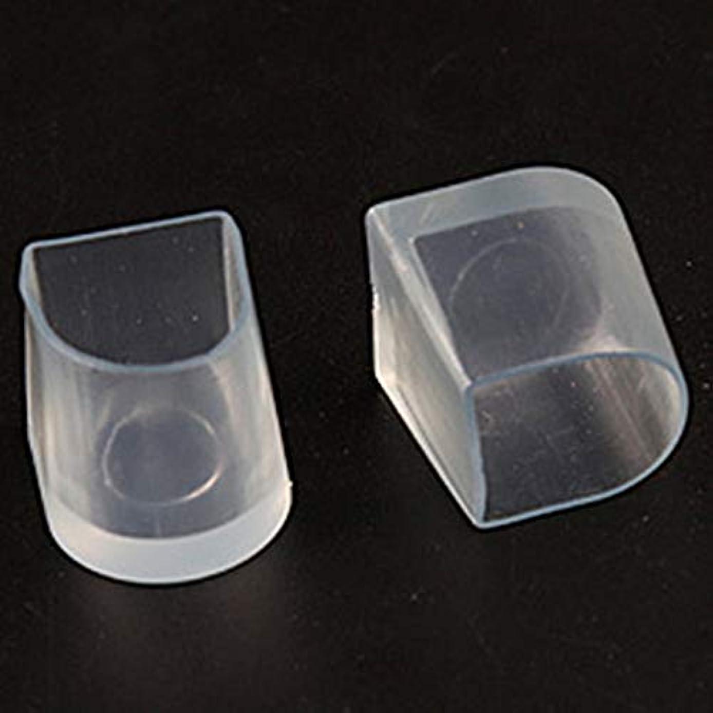 海外でセレナ枯れる1ペアハイヒール保護カバーラテンスティレットダンスカバーヒールストッパー滑り止め耐摩耗性(Color:transparent)(Size:M)