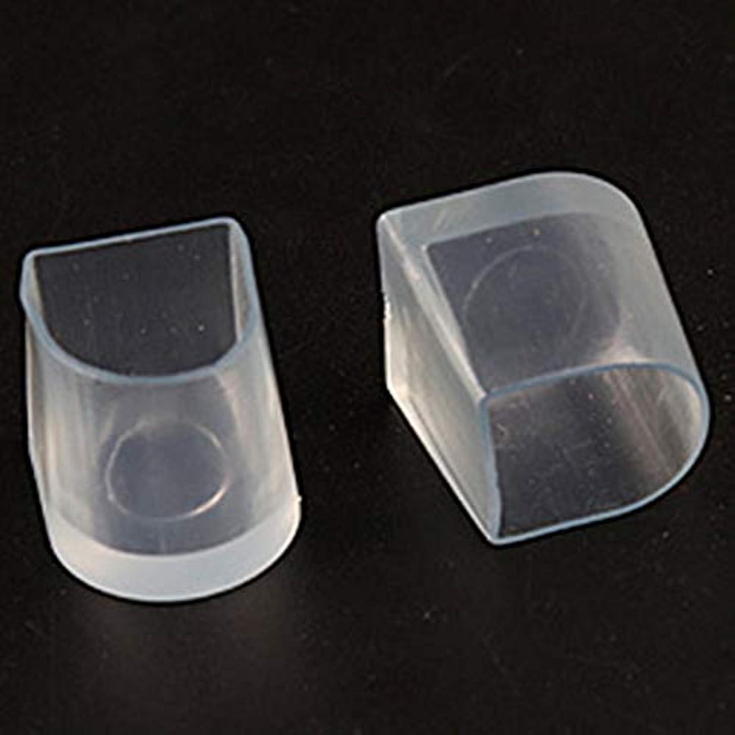 リア王珍しい洗練1ペアハイヒール保護カバーラテンスティレットダンスカバーヒールストッパー滑り止め耐摩耗性(Color:transparent)(Size:M)