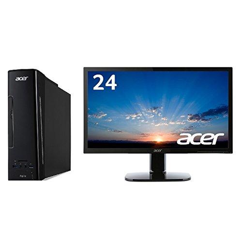 Acer デスクトップパソコン Aspire XC-730-N18F Celeron + モニター 24インチ KA240Hbmidx セット