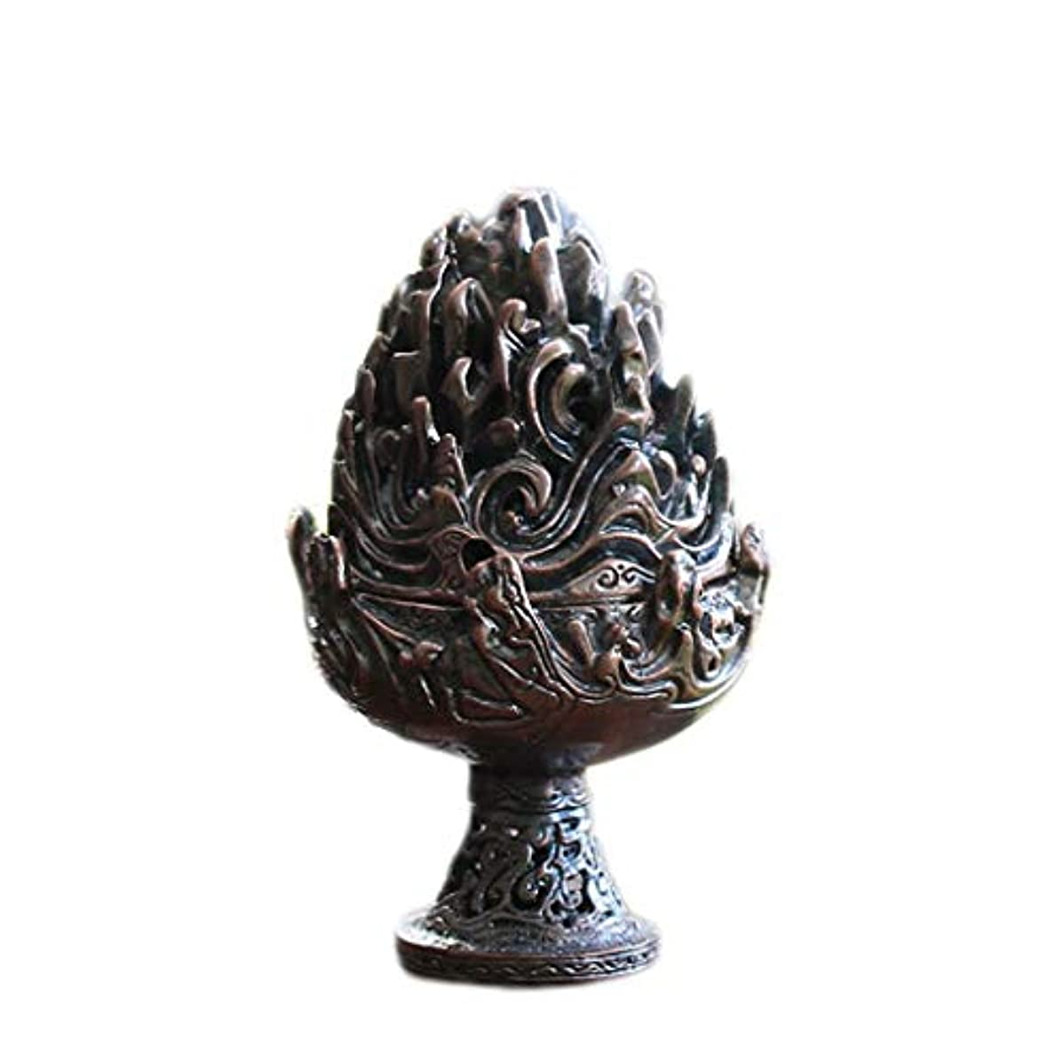 不名誉スリラー解凍する、雪解け、霜解けホームアロマバーナー 純銅香炉レトロ懐かしい屋内真鍮銅香炉 アロマバーナー (Color : Purple copper)