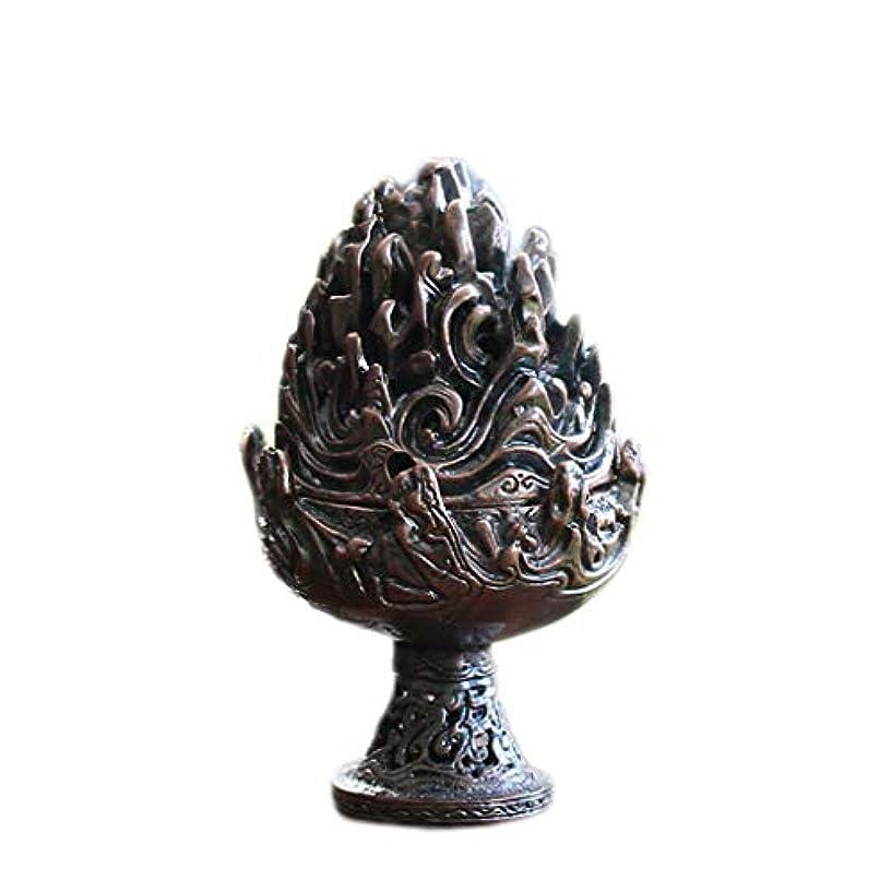 内部爵尾ホームアロマバーナー 純銅香炉レトロ懐かしい屋内真鍮銅香炉 アロマバーナー (Color : Purple copper)