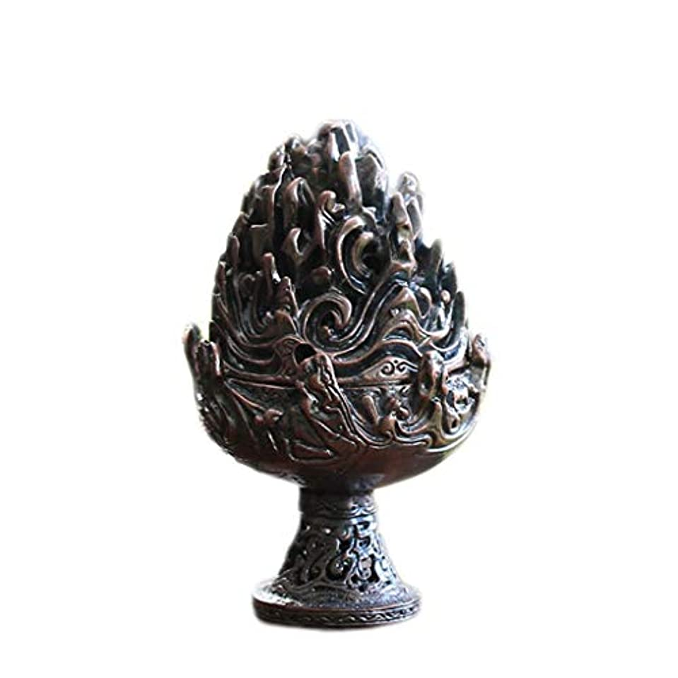 ホームアロマバーナー 純銅香炉レトロ懐かしい屋内真鍮銅香炉 アロマバーナー (Color : Purple copper)